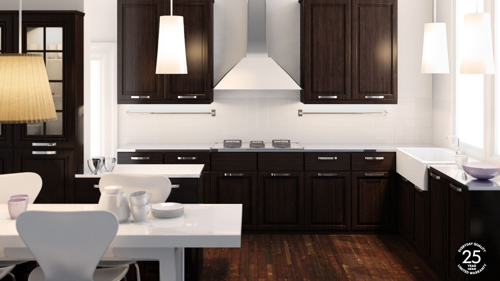 Modern Kitchen Dark Cabinets White Kitchen Dark Tile Floors Kitchen Superb Modern Ikea