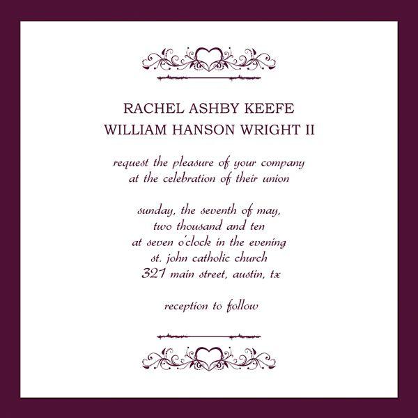 Free Printable Wedding Invitation Templates invitation - funeral ceremony invitation