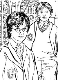 Harry Ron And Hermione Coloring Pages | Coloring Pages