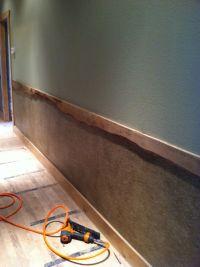 Live edge burl oak trim chair rail | Construction projects ...