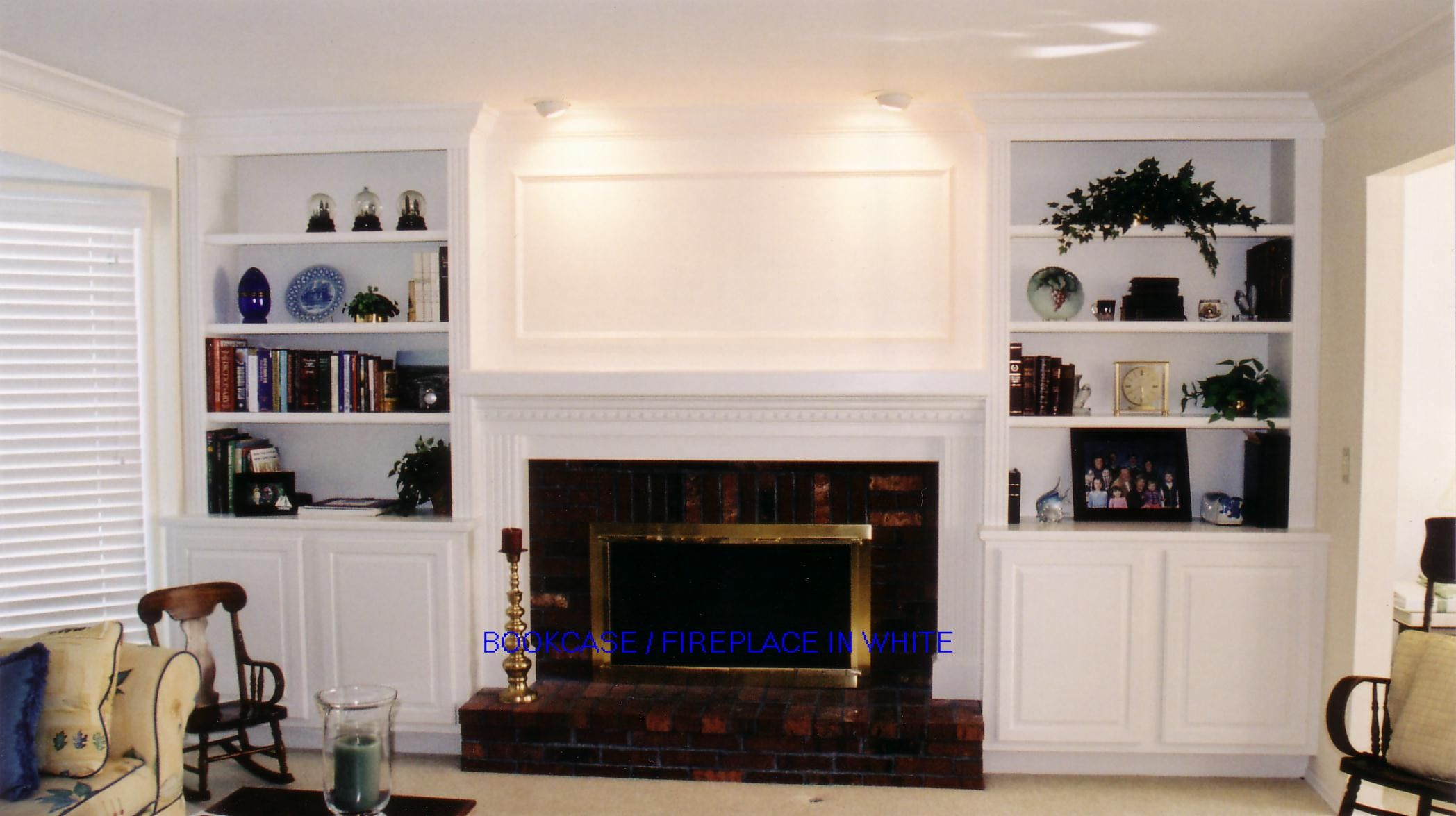 Built in bookcases around fireplace to see full screen size pictures just select it