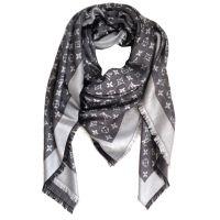 Louis Vuitton Scarf Monogram Denim Shawl Black | Stitch ...
