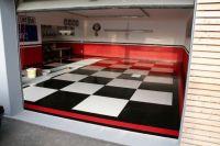 Big Checkerboard epoxy garage floor | Garage | Pinterest ...