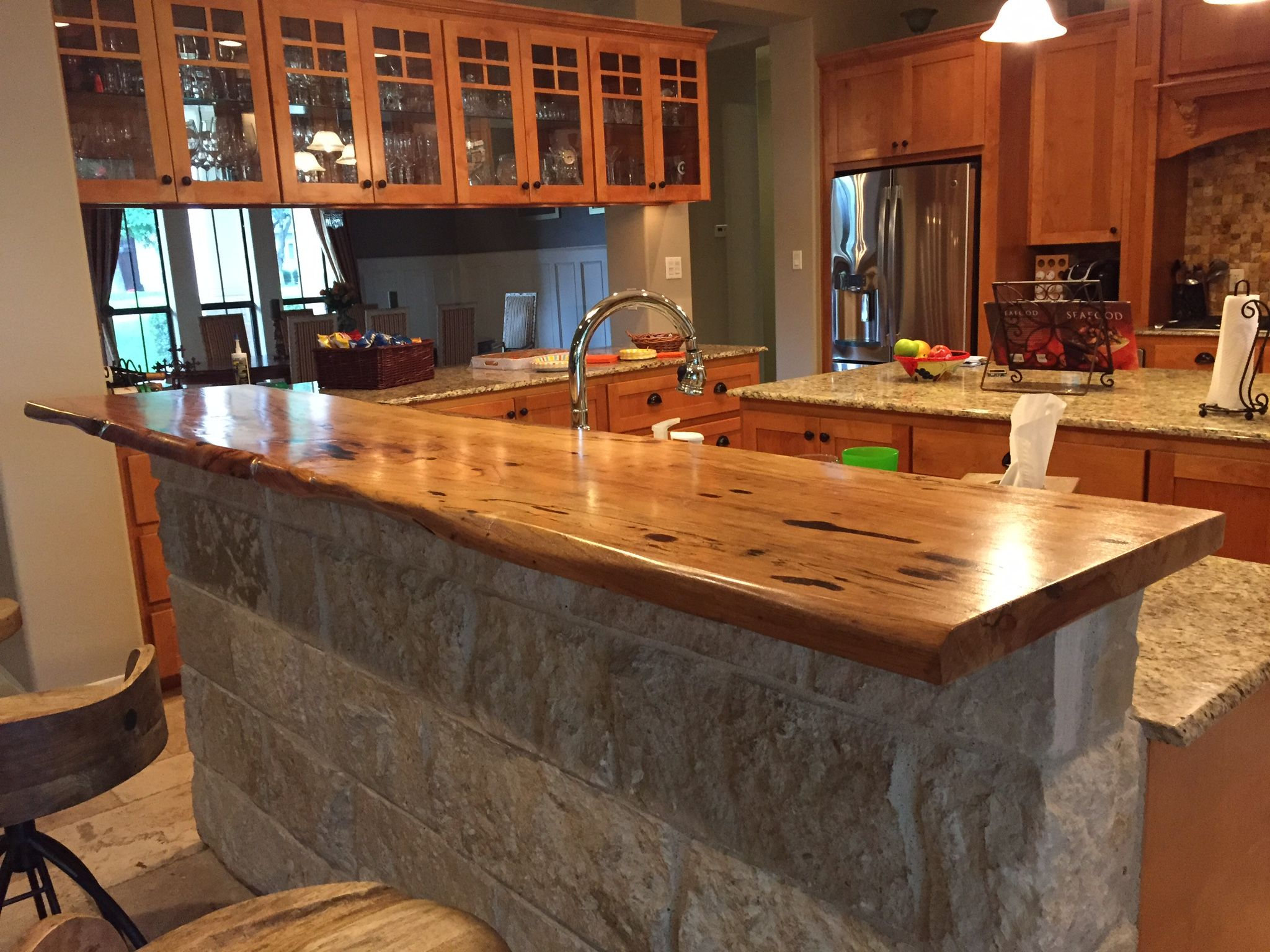 Countertop Bar Designs Kitchen Bar Top Pecan With Live Edge Bar Tops