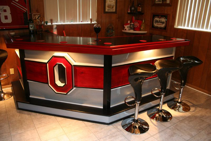 Download Red Color Bar with Black Chairs in Home Bar Ideas on a - home bar ideas on a budget
