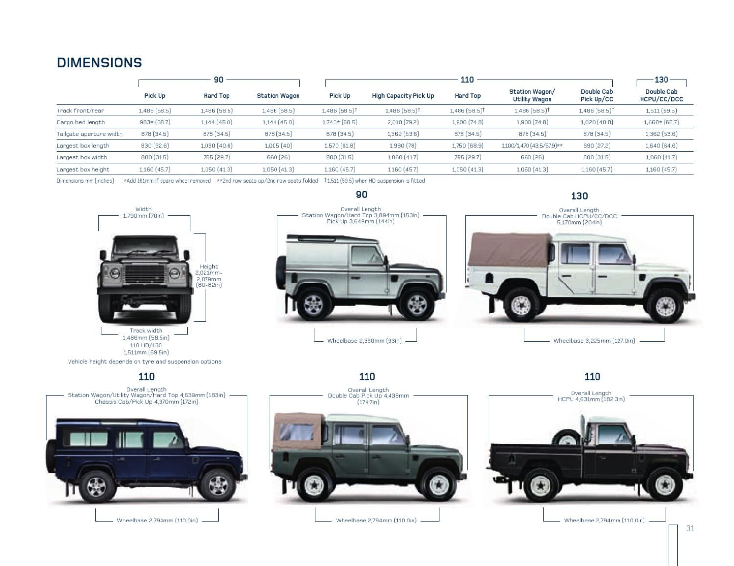 Land Rover Height Land Rover Defender Brochure Land Rover Defender Land