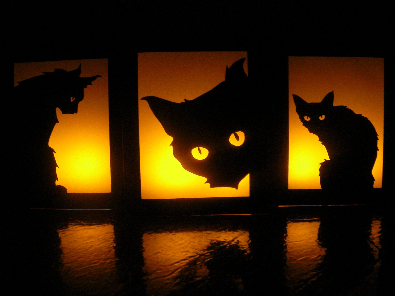 Black Cat Decorations Black Cat Halloween Luminaries Set Of 3 Party
