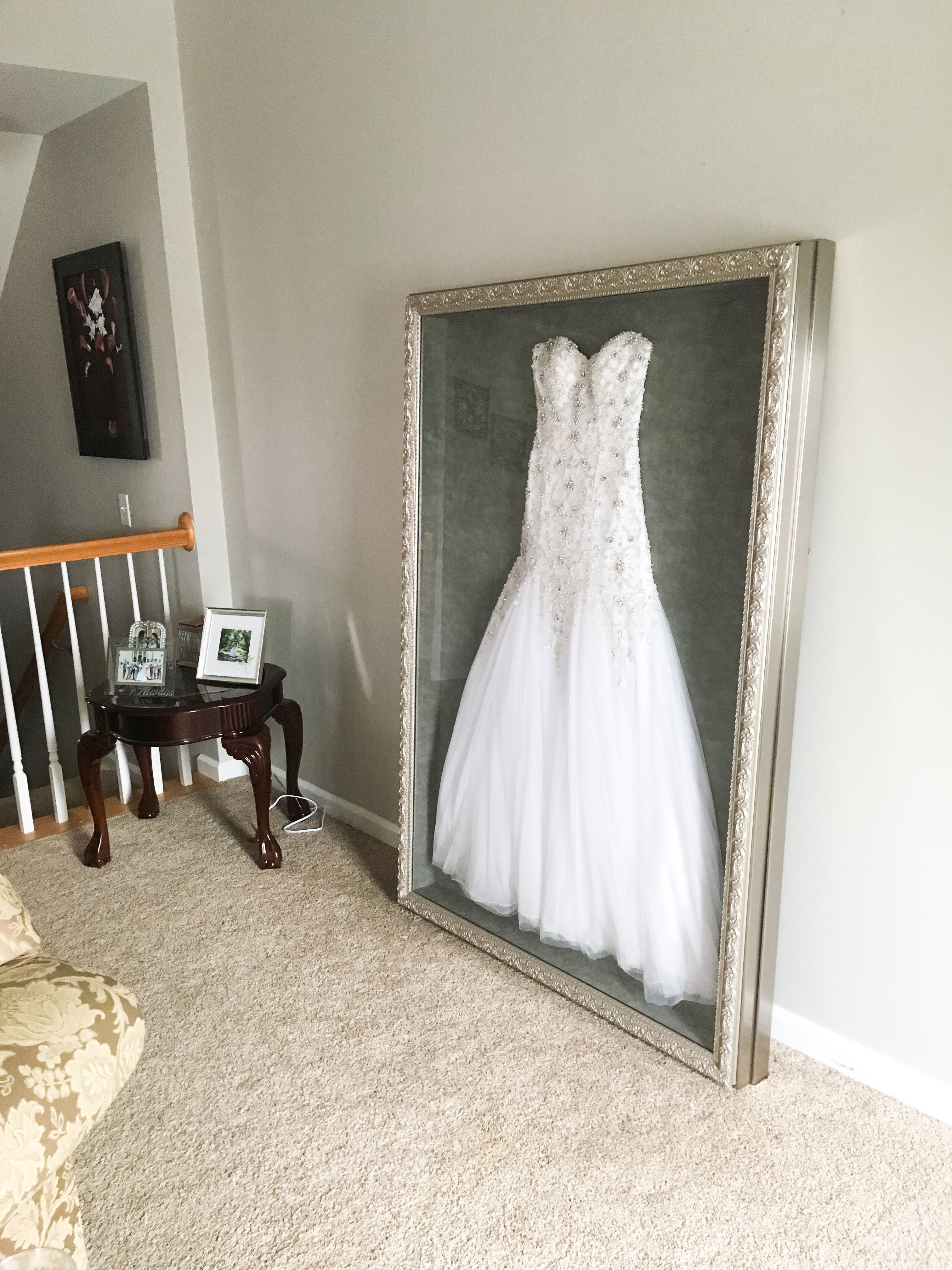 preserving wedding dress Instead of putting my wedding dress in a box hidden in the attic or possibly selling
