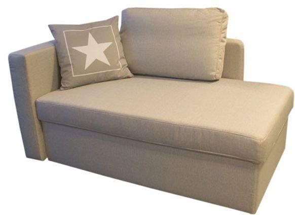 Schlafsofa 4 Sitzer Stoff Mit Matratze Calife   Grau   Liegefläche   Kleine  Sofas Kleine