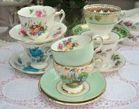 Pretty Vintage Teacups and Saucers | Vintage teacups ...