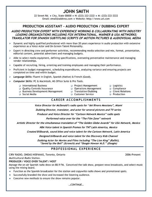 Click Here to Download this Production Assistant Resume Template - production assistant resume