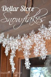 Dollar Store Snowflakes | Glue guns, Dollar stores and ...