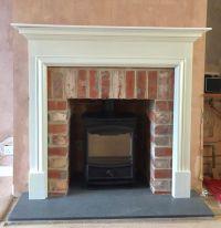 FDC5W multifuel stove, brick slip tiled opening, white ...