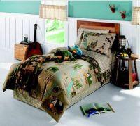Camping Nature Themed Bears & Deer Twin Comforter Set (6 ...