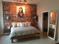 Accent wall in Mill Blend Thin Brick Veneer. | bedroom ...