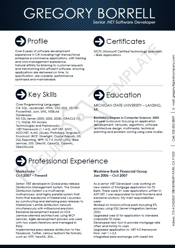 This image presents the Software Engineer Resume Template Do you - software developer resume template