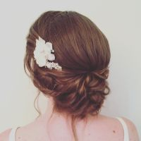 Wedding Hair Low Updo | Fade Haircut