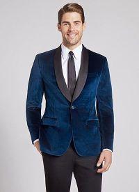 Blue velvet shawl collar tux | Men's Fall/Winter Looks ...