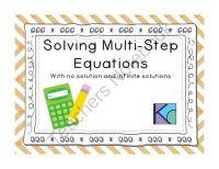 Solving Multi-Step Equations with no solution and infinite ...