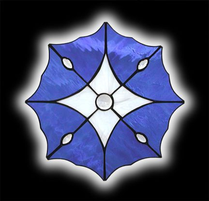 Stained Glass Diamond Star Small Window - Reminds Me Of A Morning