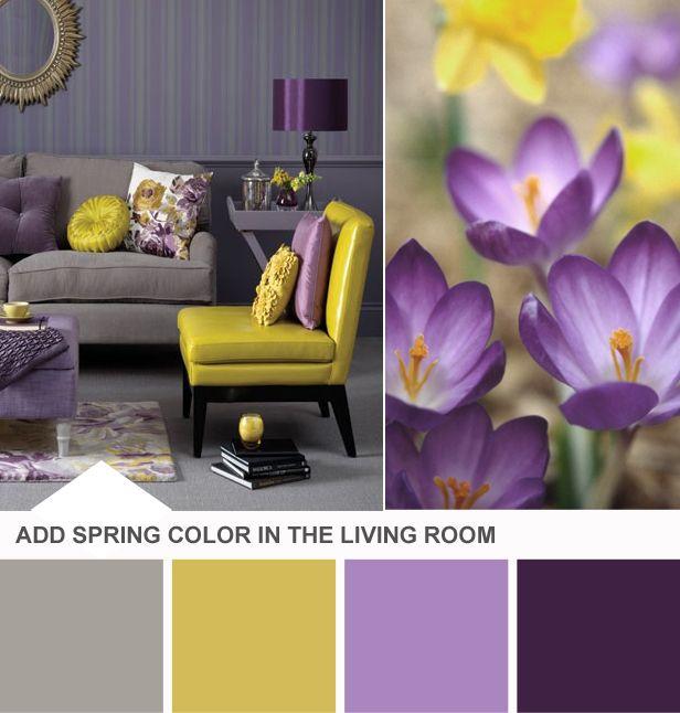 26 Amazing Living Room Color Schemes Purple gray, Color combos - living room color combinations