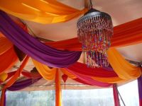 fabric ceiling drapes garden