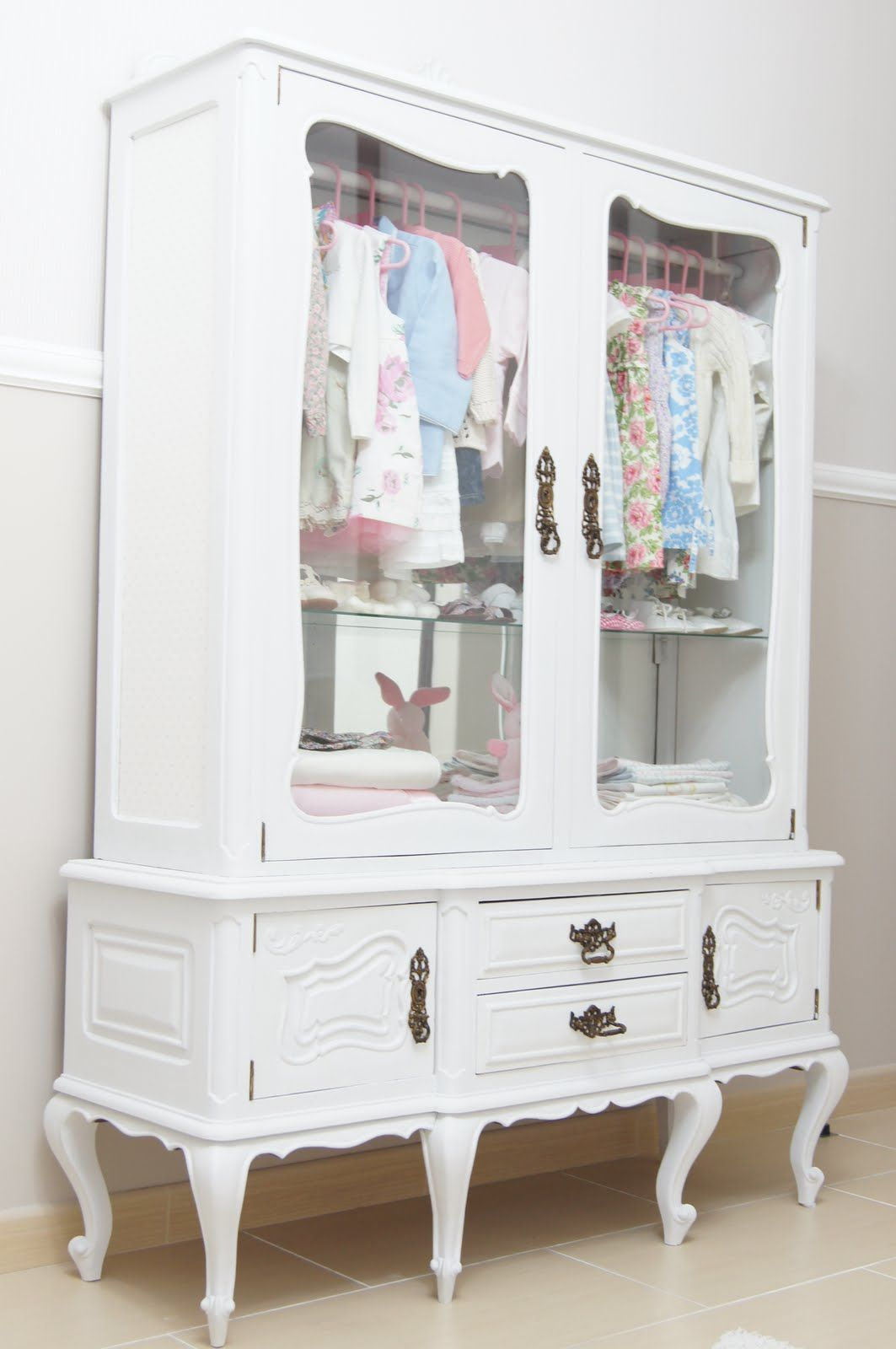 Clothing Cupboards Repurpose A Vintage China Cabinet Into A Little Girl 39s
