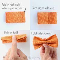 DIY simple Bow Tie  sewing   Baby singlet   Pinterest ...