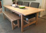 If space is tight around your dining table, a bench might ...