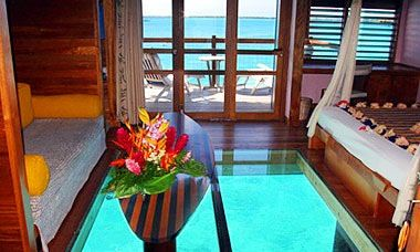 Glass Bottom Huts Tropical Living Pinterest Vacation