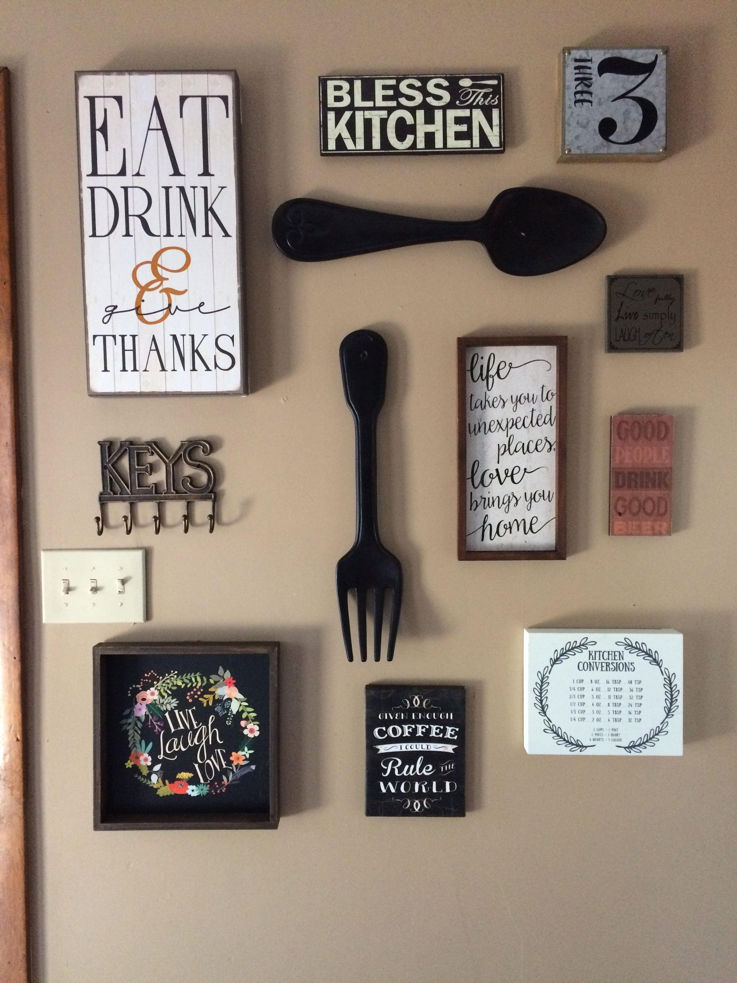 Themed Kitchen Decor Ideas My Kitchen Gallery Wall All Decor From Hobby Lobby And