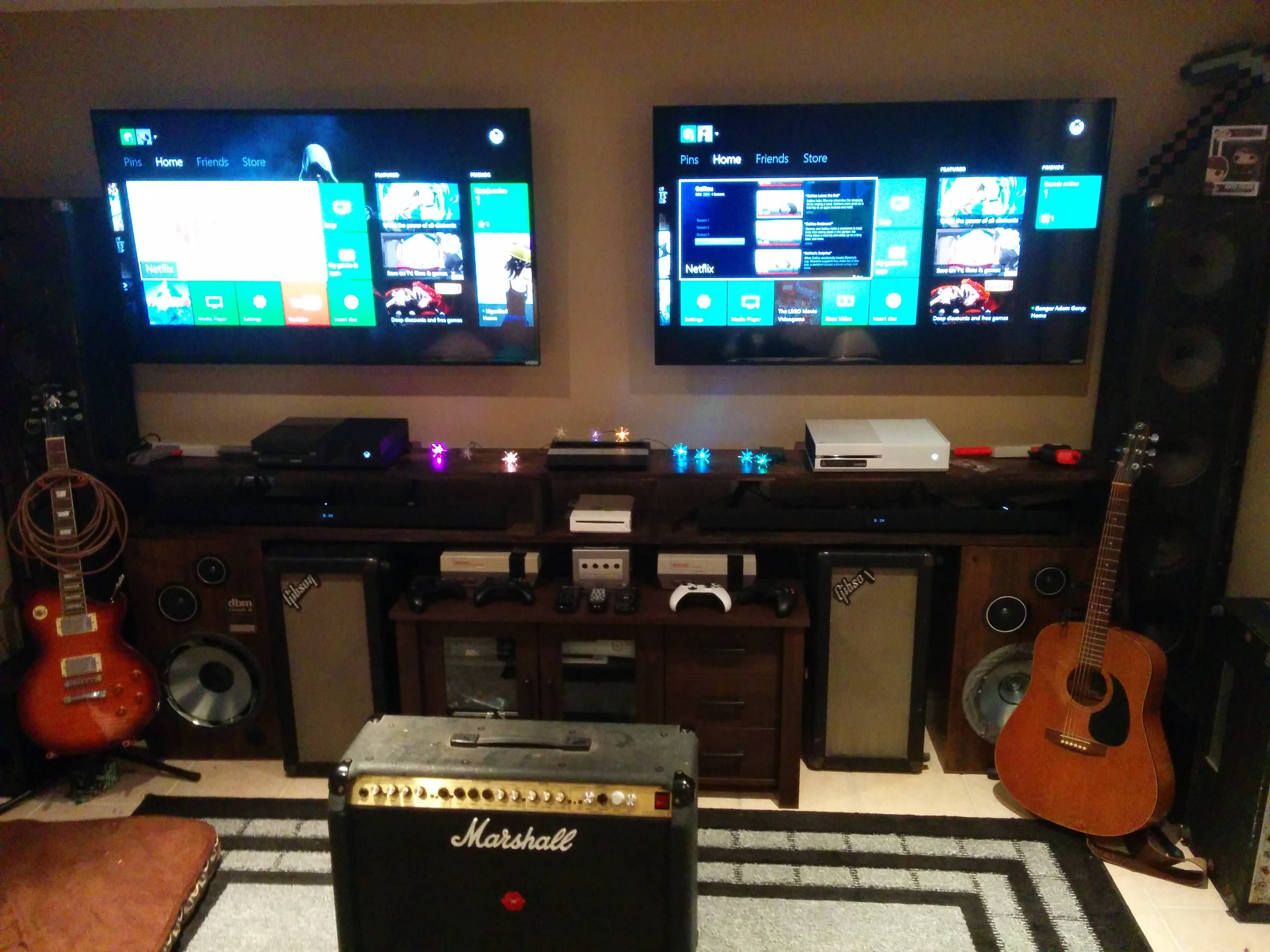 Bad Set Up Synonym Two Tv Gaming Setup Originally Linked From Reddit Thread