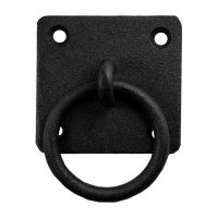 Wrought Iron Ring Pull Black Cabinet Hardware Rustic Style ...