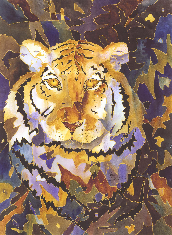 Fleur de lis paintings louisiana artists tiger terri dakmak baton rouge watercolor artist