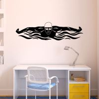 Butterfly Swimmer Removable Wall Decal