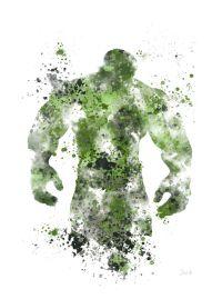 "The Incredible Hulk ART PRINT 10 x 8"" illustration ..."
