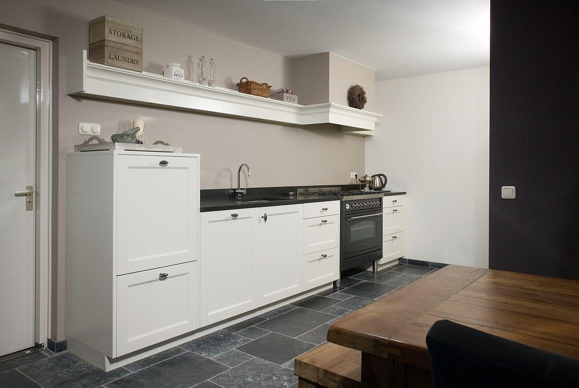 Landelijke meubels wit met hout tv dressoir landelijk top