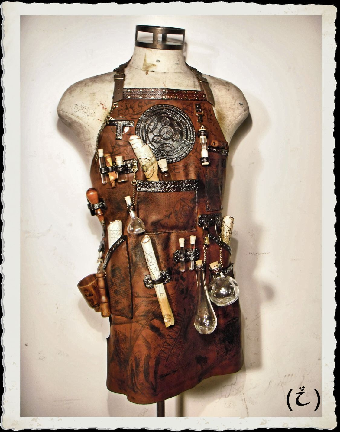 Steampunk Accessoires Selber Machen Leather Apron Alchemist Steampunk By Ileathercraft