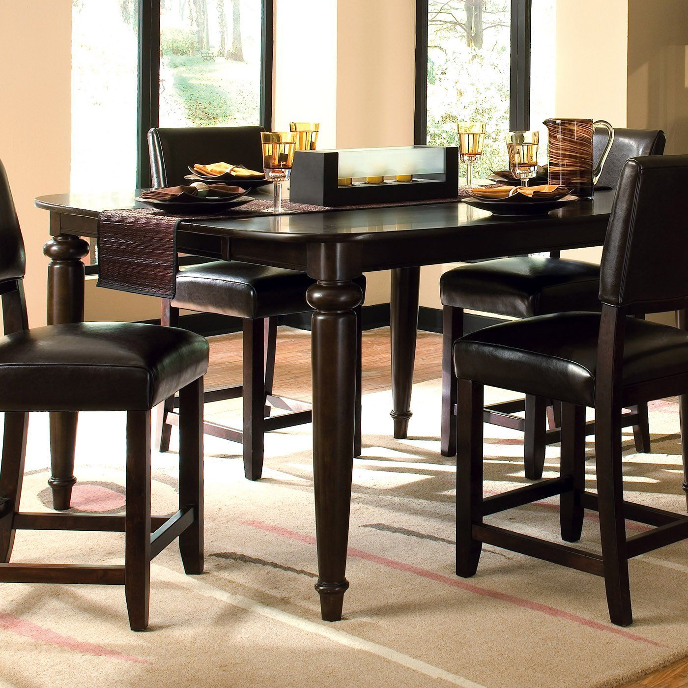 tall kitchen chairs Kincaid Furniture 46 Somerset Tall Dining Table Espresso