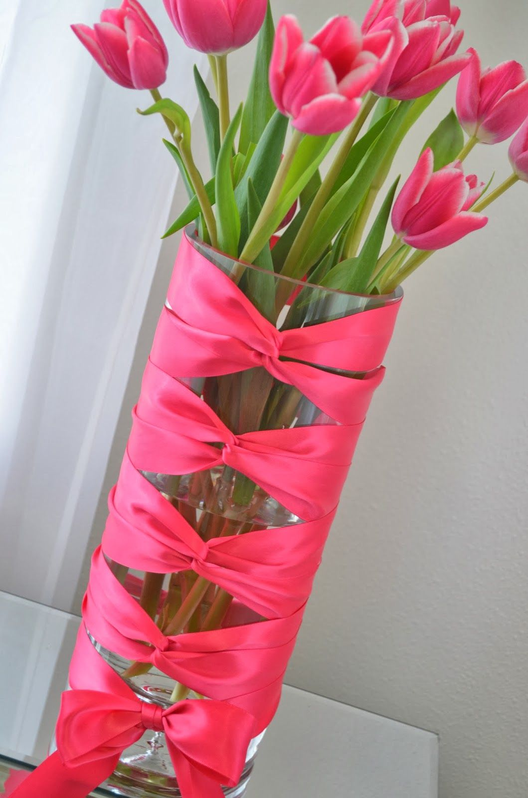Flower Vase Ideas For Decorating Diy Flower Vase Idea Corset Vase With Tulips Decor