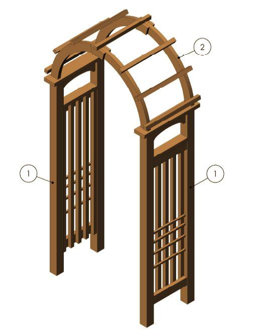 Garden Arch Arbor Arbor Designs Pinterest Diy pergola - garden arbor plans designs