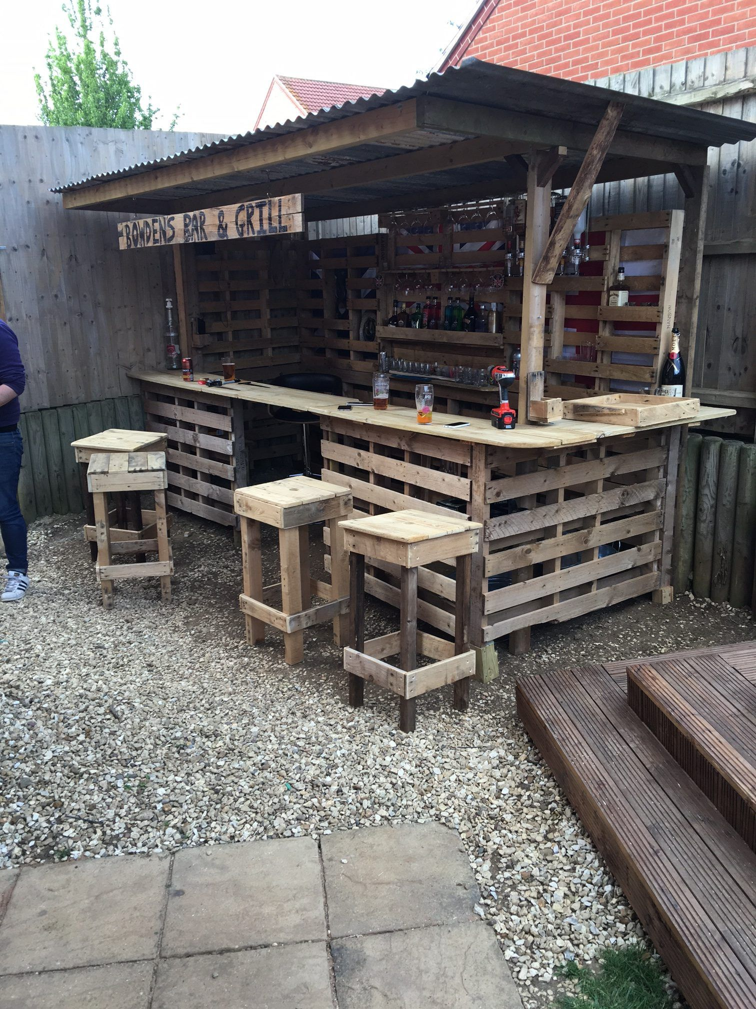 Bricomania Piscina Making The Ultimate Garden Bar Using Pallets Pallets