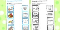 Food Group Matching Activity Worksheet | Science ...
