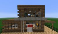 minecraft wooden modern house