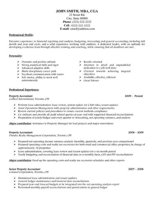 Click Here to Download this Senior Accountant Resume Template - tax accountant resume sample