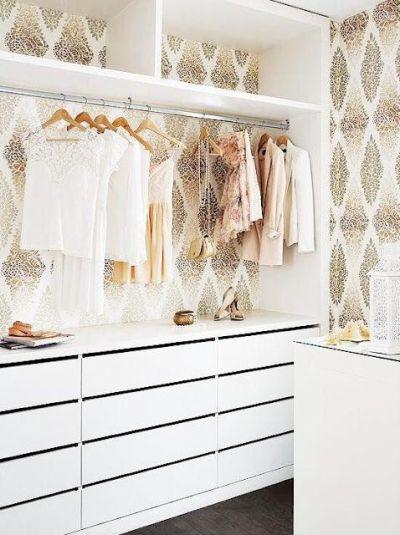 Closet Wallpaper on Pinterest   Vinyl Flooring Bathroom, Fornasetti Wallpaper and Ikea Bookshelf ...
