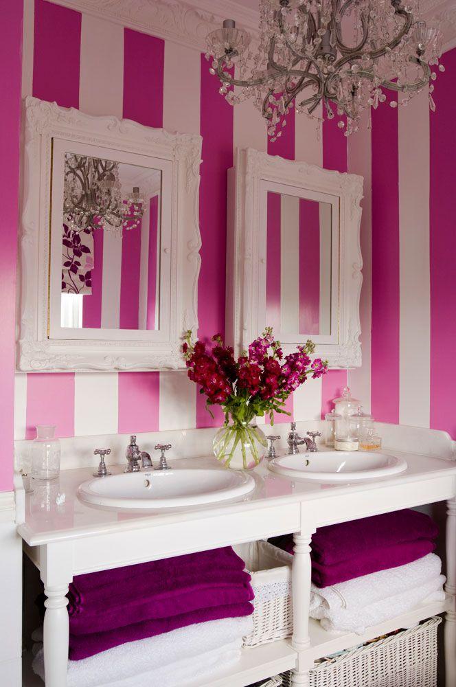 Bathroom Beauties - Schönheiten fürs Bad Pink stripes, Girl - badezimmer pink