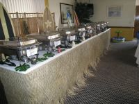 buffet setup for wedding | Wedding Luau, Buffet Table Set ...