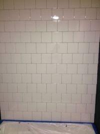 6x6 white tile backsplash and wall | Master Bedroom & Bath ...
