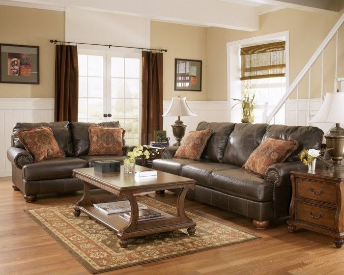 Living room paint ideas with brown leather furniture Living Room - paint colors for living room walls with dark furniture